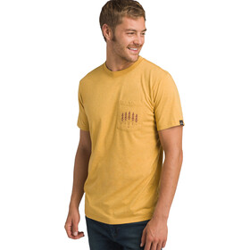 Prana Hollis Pocket Camiseta manga corta Hombre, marigold heather